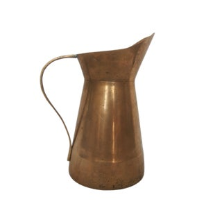 Solid Brass Pitcher With Handle For Sale
