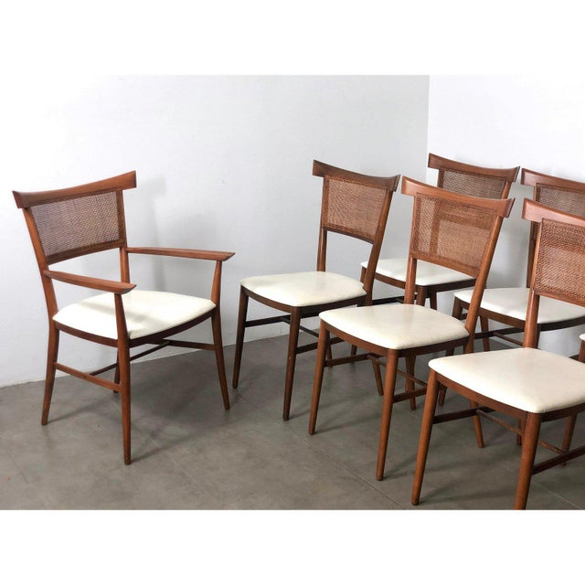 Set of 10 Paul McCobb Cane Dining Chairs, Circa 1950's For Sale In Detroit - Image 6 of 9