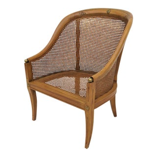 Regency Style Caned Bergere