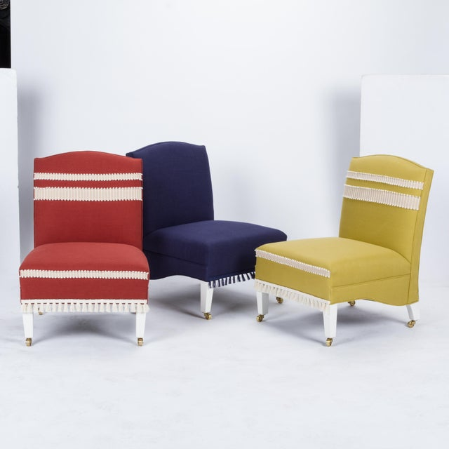 Casa Cosima Sintra Chair in Paprika Linen, a Pair For Sale - Image 10 of 11