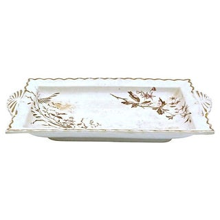 Antique Transferware Wildflower Tray Preview