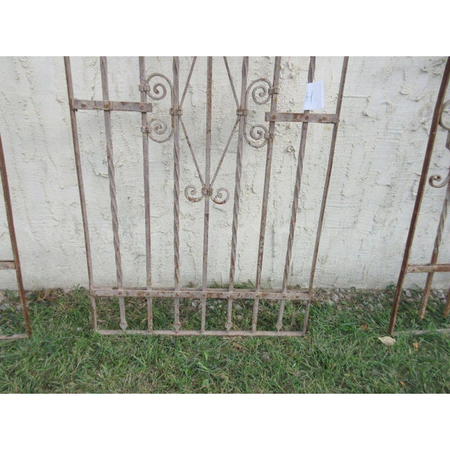 Antique Victorian Iron Gate Architectural Salvage - Image 6 of 7