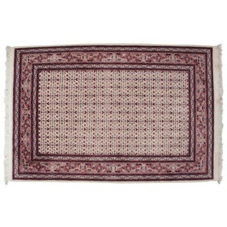 "Finest Sino-Herati-Tabriz Handmade Handknotted Pink Rug 4'-2"" X 6'-7"" For Sale"