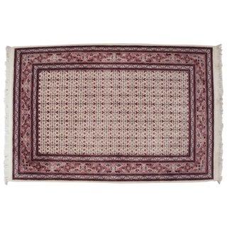 "Sino-Herati-Tabriz Handmade Fine Handknotted Pink Rug 4'-2"" X 6'-7"" For Sale"
