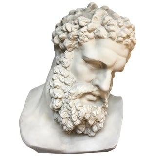 Greek Roman Style Hercules Bust Sculpture For Sale