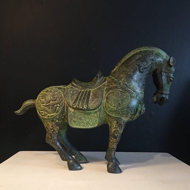 Antique Chinese Bronze Gilt Tang Horse Sculpture Chairish