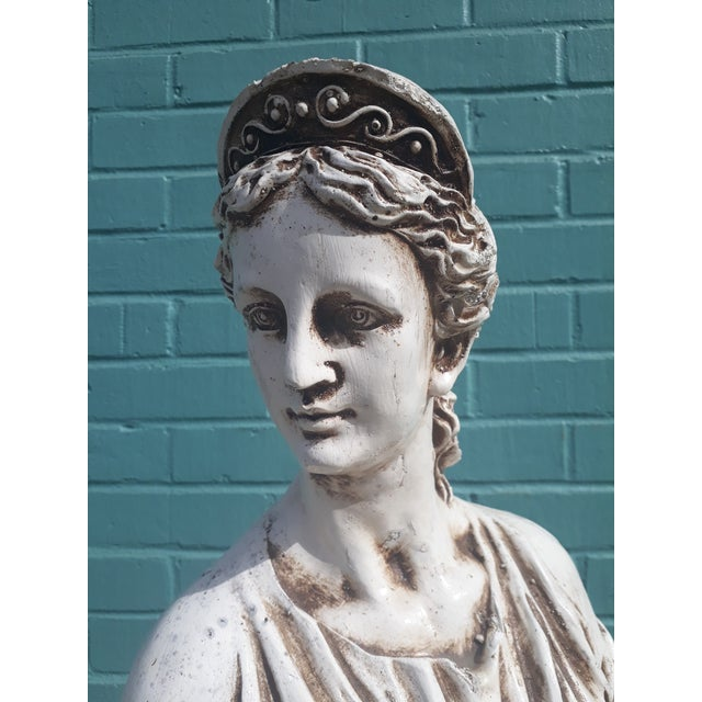 Mid 20th Century Vintage Grecian Goddess Statue For Sale - Image 5 of 7