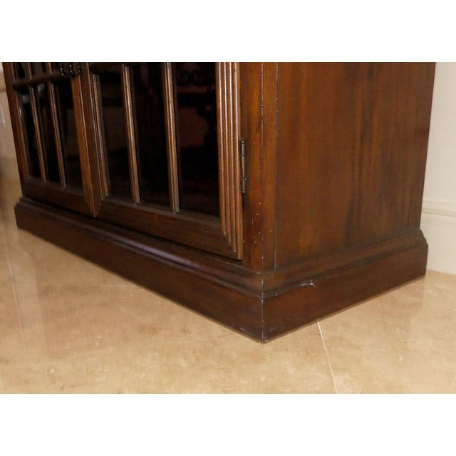 Hekman Display Cabinet Bookcase Hutch For Sale - Image 11 of 13