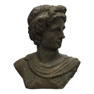 1930s Vintage Neoclassical Terra-Cotta Grecian Bust For Sale