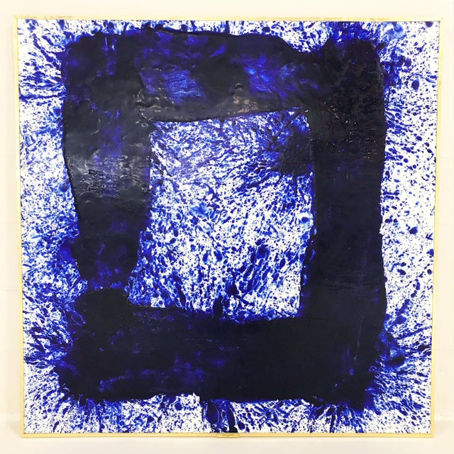 """John O'Hara """"Blue 30"""" Painting For Sale - Image 4 of 4"""