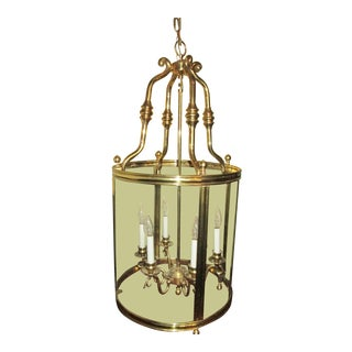 Louis XVI Style Solid Brass Lantern Chandelier For Sale