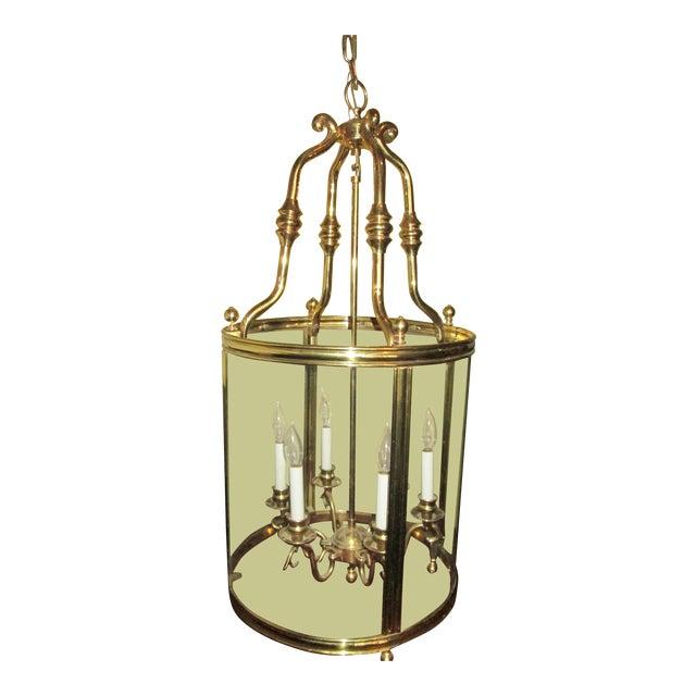 Louis XVI Style Solid Brass Lantern Chandelier For Sale