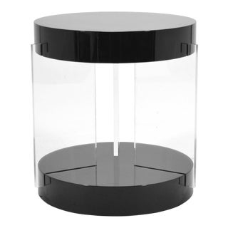 Vladimir Kagan Lucite Leg Side Table For Sale