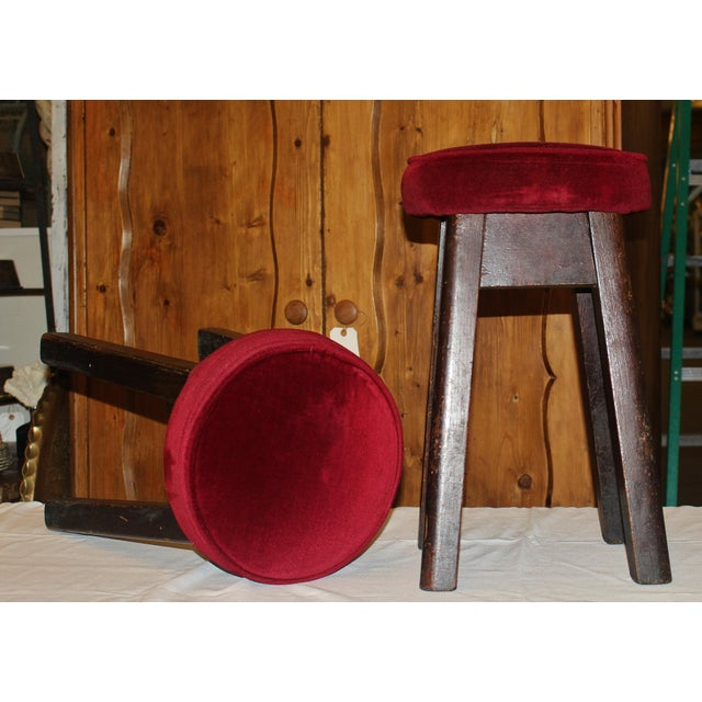 English Bar Stools -- Set of 6 For Sale - Image 5 of 5