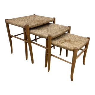Gio Ponti Style Nesting Stools- Set of 3 For Sale