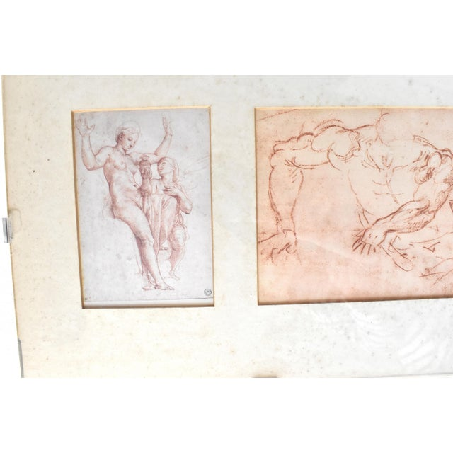 Late 20th Century Vintage Framed Old Masters Figural and Portrait Sketches For Sale - Image 5 of 11