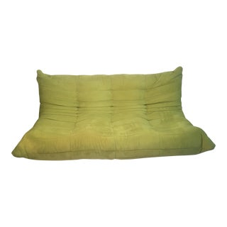 1980s Vintage Lime Toga Style Sofa For Sale