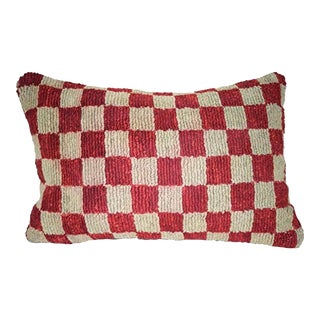 Ethnic Armchair Pillow With Old Tribal Design, Vintage Ethnic Turkish Decor Kilim Pillow Cover 16'' X 24'' (40 X 60 Cm) For Sale