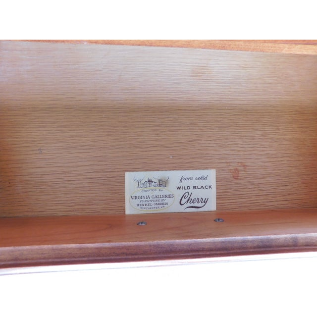 Chippendale Henkel Harris Chippendale Style Cherry Nightstands - a Pair For Sale - Image 3 of 11