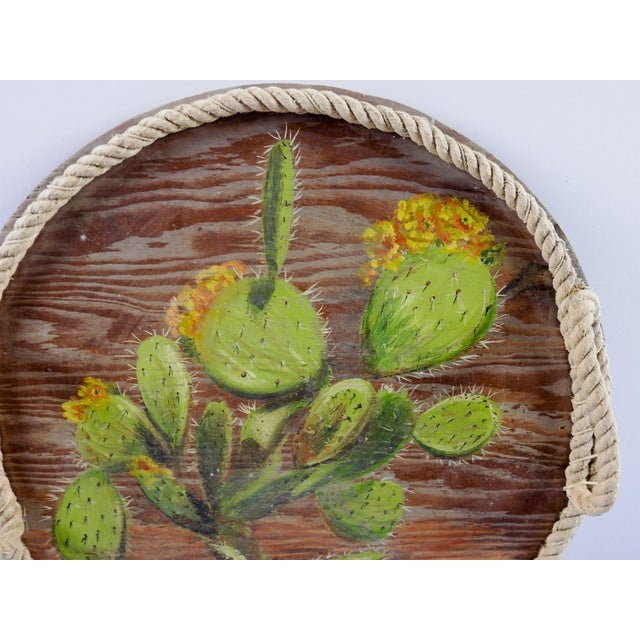 Hand Painted Cactus Tray For Sale - Image 4 of 5