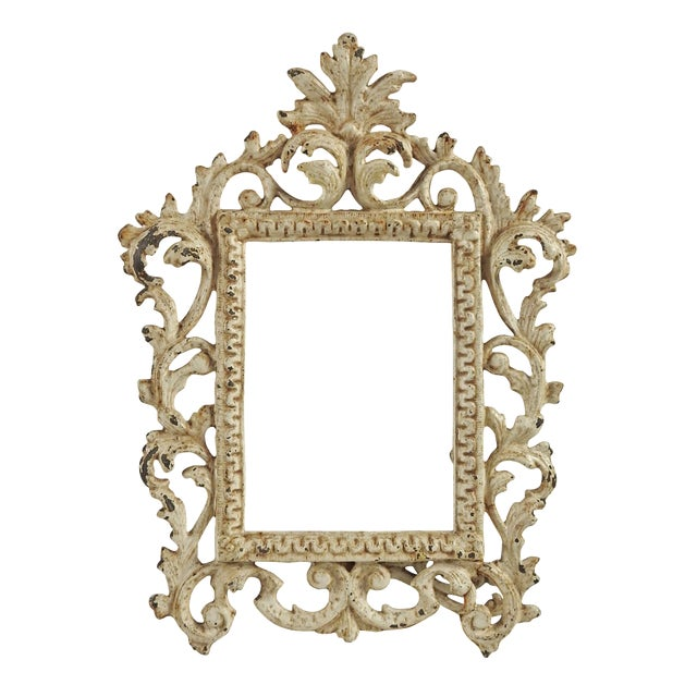 Vintage Shabby Chic Iron Picture Frame - Image 1 of 4