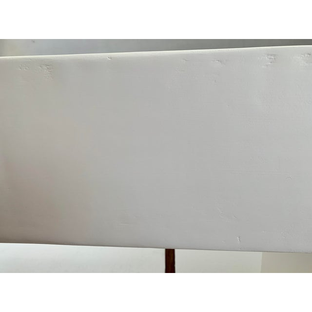 Abstract The Lucy Curved Smooth Plaster Modern Waterfall Console For Sale - Image 3 of 4