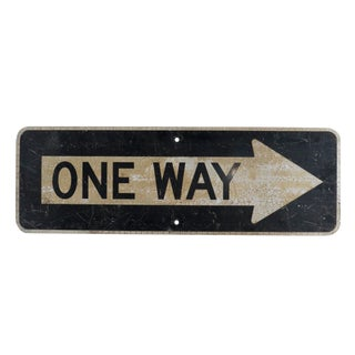 Vintage One Way Road Sign For Sale