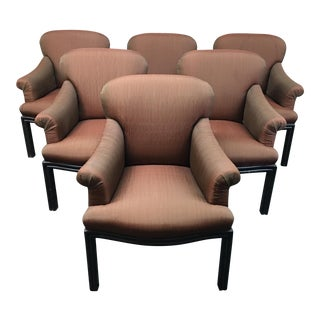 Iridescent Upholstered Dining Chairs - Set of 6