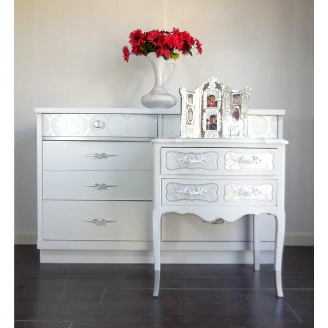 White Mid-Century Modern Dresser - Image 7 of 8