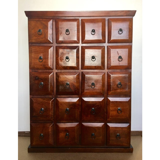Vintage Mahogany Apothecary 20 Drawer Cabinet For Sale - Image 11 of 11