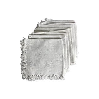 French Damask Napkins, S/8 For Sale