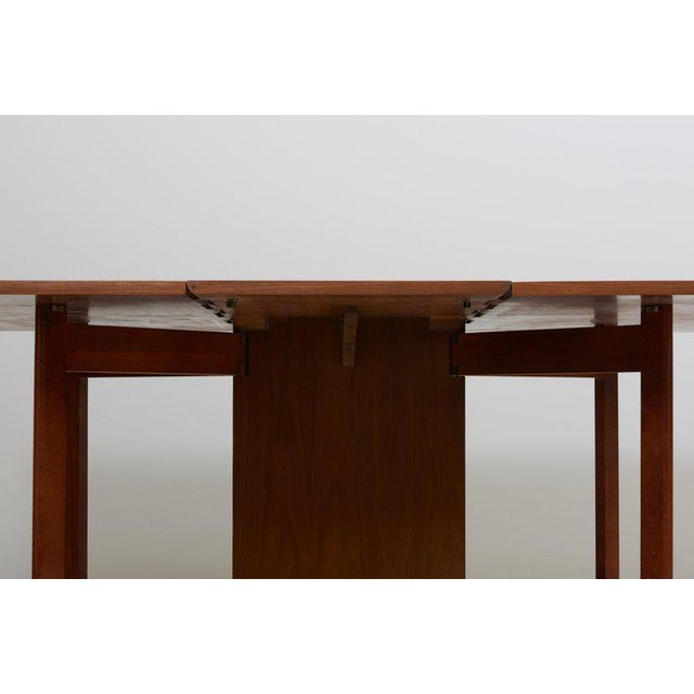 Brown George Nelson Gate-Leg Dining Table Model 4656 by Herman Miller in Walnut For Sale - Image 8 of 13