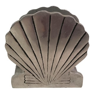 Vintage Metal Shell Napkin Holder