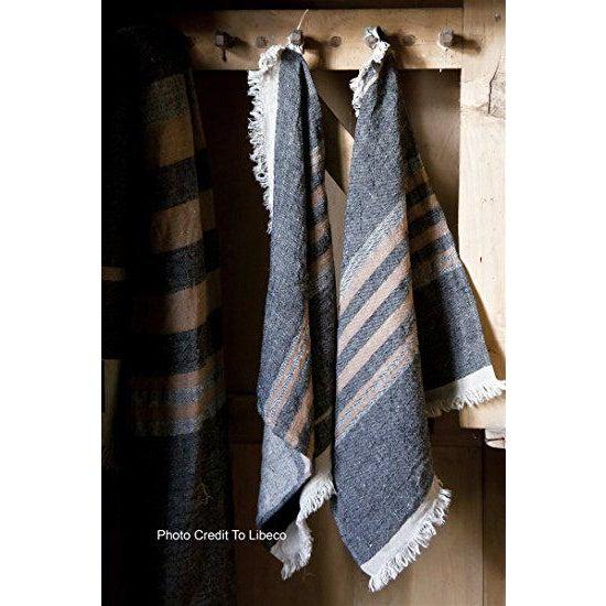 Belgian Black Stripe Towel For Sale - Image 4 of 10