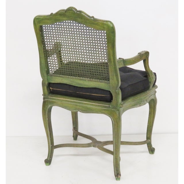 French Louis XVI Style Painted Armchairs - A Pair - Image 6 of 6