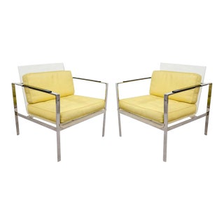 Pair of Lucite Modernist Chairs by Laverne For Sale