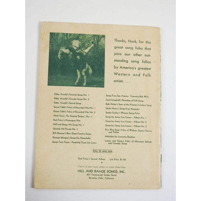 1951 Hank Snow Music Folio For Sale - Image 4 of 5