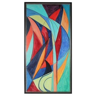 """Georgette London Owens """"Indian Love Song"""" Abstract Expressionist Painting, Late 1970s Late 1970s For Sale"""