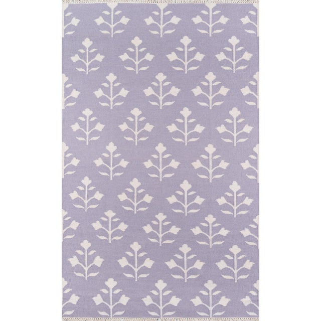 "2010s Erin Gates Thompson Grove Lilac Hand Woven Wool Area Rug 7'6"" X 9'6"" For Sale - Image 5 of 5"