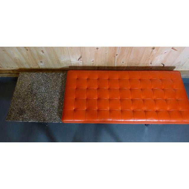 Orange Rare Bench by Erwin and Estelle Laverne For Sale - Image 8 of 9