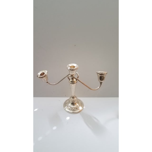 Late 18th Century 1880 Antique Gorham Silver on Copper 3 Light Twisted Candelabra For Sale - Image 5 of 5