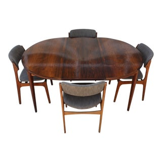 1950s Danish Modern Erik Buch Dining Set - 5 Pieces For Sale