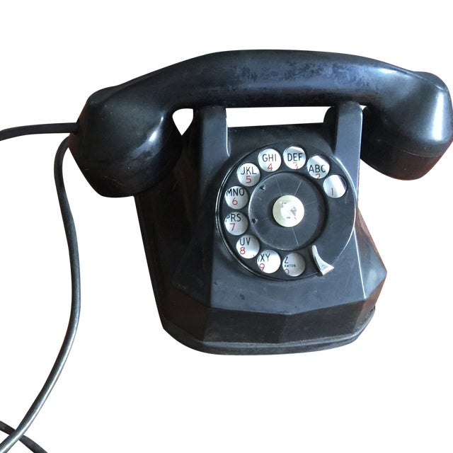 Vintage Rotary Dial Telephone Works! - Image 2 of 5