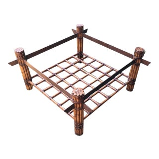 Vintage Boho Chic Style Coffee Table Base For Sale