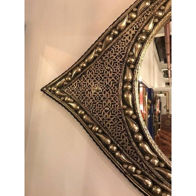 Eye Ball Form Art Deco Style Metal Wall Mirror - Image 4 of 10
