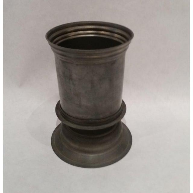 English Vintage Pewter Vase - Image 2 of 5