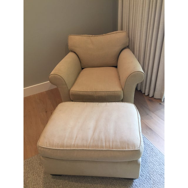 We love this upholstered chair and ottoman from Mike Furniture that we ordered through our interior designer. Mike was a...