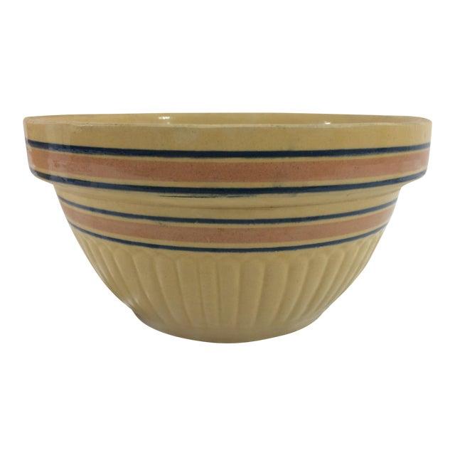 Medium Autumn Yellow Weller Dough Bowl For Sale