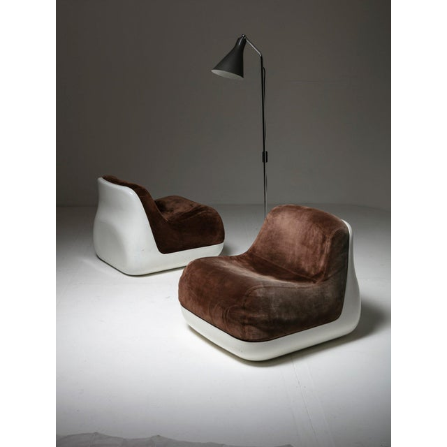 Pair of Easy Chairs by Alberto Rosselli for Saporti For Sale - Image 6 of 7