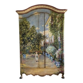 "Habersham: The Claude Monet Collection - ""The House at Argenteuil"" Armoire For Sale"